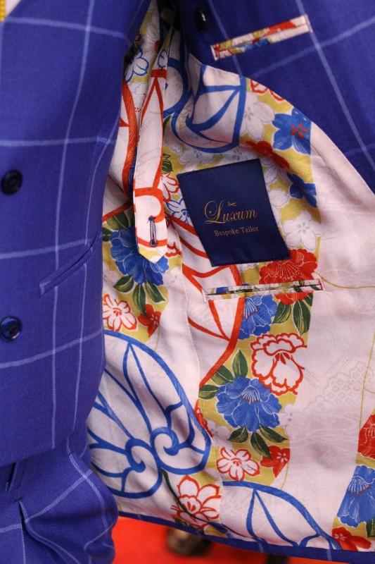 裏地が着物のジャッケットを店内で撮影した画像