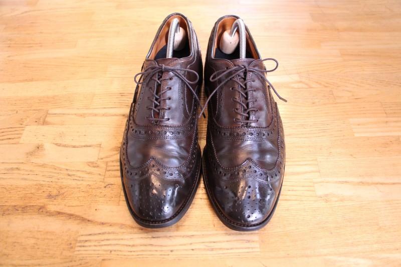 お気に入りの革靴を大修理!オーダースーツに似合う革靴に。