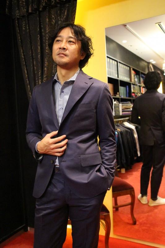 Luxum紺のコットンスーツ