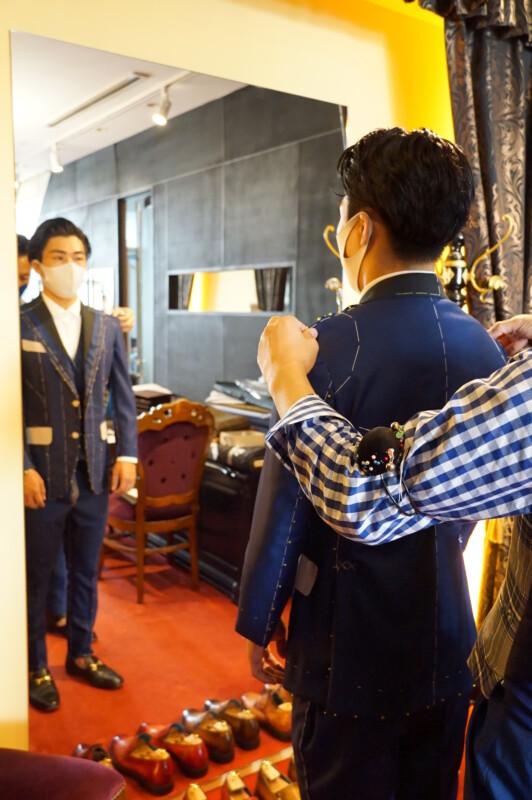 早すぎる2022年成人式のオーダースーツのご注文(仮縫い編)